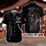 NFL Houston Texans Skull Button Shirt/Baseball Shirt Design 3D Full Printed Custom Name Sizes S - 5XL N91306