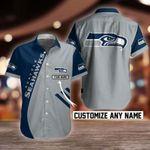 NFL Seattle Seahawks Button Shirt Design 3D Full Printed Custom Name Sizes S - 5XL N91707