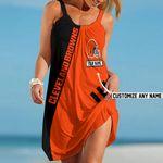 NFL Cleveland Browns Summer Beach Dress Sizes S - 5XL Custom Name N91712