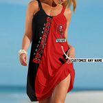 NFL Tampa Bay Buccaneers Summer Beach Dress Sizes S - 5XL Custom Name N91713