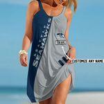 NFL Seattle Seahawks Summer Beach Dress Sizes S - 5XL Custom Name N91714