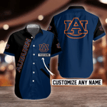 NCAA Auburn Tigers Button Shirt Design 3D Full Printed Custom Name Sizes S - 5XL N91762