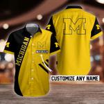NCAA Michigan Wolverines Button Shirt Design 3D Full Printed Custom Name Sizes S - 5XL N91765