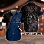 NCAA Auburn Tigers Skull Button Shirt Design 3D Full Printed Custom Name Sizes S - 5XL N91802