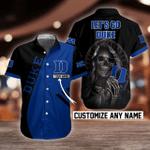 NCAA Duke Blue Devils Skull Button Shirt Design 3D Full Printed Custom Name Sizes S - 5XL N91803