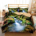 Dream Forest Waterfall 3d Printed Bedding Set Soft Lightweight Microfiber Comforter