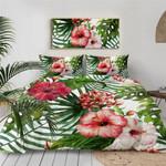 Tropical Hibiscus 3d Printed Bedding Set Soft Lightweight Microfiber Comforter