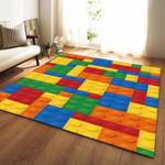 Colorful Kids Lego 3d Grapic Design Home Decor Rug Carpet