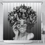 African American Black And White My Roots Shower Curtain