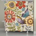 Boho Butterfly Garden Shower Curtain  Custom Design High Quality Home Bathroom Home Decor