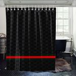 Black red background shower curtains Vibrant Color High Quality Unique For Good Vibes Home Decor