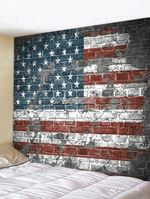 Vintage Brick Unite State Usa Wall Tapestry American Flag Print Wall Hanging Tapestry Home Decor