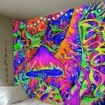 Hippie Tapestry Mushroom Totem Tapestry Wall Hanging Art Room Tapestries
