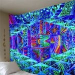 3D Psychedelic Tapestry Macrame Wall Hanging Home Decor