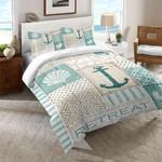 Coastal Retreat Anchor Printed Bedding Set Bedroom Decor