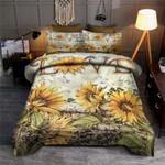 Sunflower Love Art Printed Bedding Set Bedroom Decor