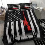 Deer Hunting Guns US Flag Bedding Set Bedroom Decor