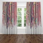 Eclectic Hippie Boho Sheer and Blackout Window Curtains Home Decor