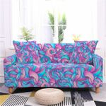 Colorful Spiral Petal Pattern Home Decoration For Living Room Sofa Cover