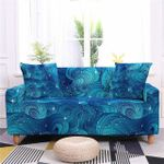 Blue Twinkle Flow Pattern Home Decoration For Living Room Sofa Cover