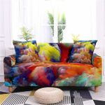 Colorful Watercolor Art Pattern Home Decoration For Living Room Sofa Cover