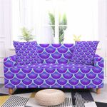 Beautiful Purple Scales Pattern Home Decoration For Living Room Sofa Cover