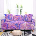 Blue And Pink Pattern Red Stars Home Decoration For Living Room Sofa Cover