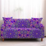 Beautiful Purple Flower Round Pattern  Home Decoration For Living Room Sofa Cover