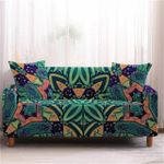 Green Flower Patterns Home Decoration For Living Room Sofa Cover