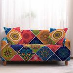 Mandala Beautiful Colorful Flower Square Pattern Home Decoration For Living Room Sofa Cover
