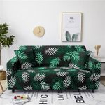 Tropical And White Leaves Pattern Home Decoration For Living Room Sofa Cover