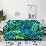 Tropical Green Painting Leaves Pattern Home Decoration For Living Room Sofa Cover