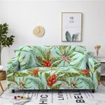 Tropical Red And Pink Heliconia Pattern Home Decoration For Living Room Sofa Cover