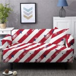 Red Stripes And Stars Pattern Red Background Home Decoration For Living Room Sofa Cover