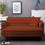 Green And Red Seamless Pattern Red Background Home Decoration For Living Room Sofa Cover