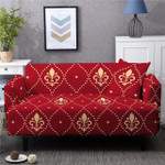 Hibiscus Abstract Pattern Red Background Home Decoration For Living Room Sofa Cover