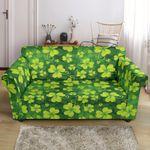 Yellow Shamrock Clover Pattern Print Sofa Cover