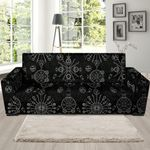 Black Leather And Occult Witch Gothic Sofa Cover