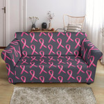 Breast Cancer Awareness Pink Ribbon Pattern Sofa Cover