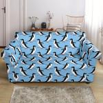 Penguin Dance Cute Pattern Print Sofa Cover
