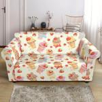 Cupcake Strawberry Cherry Pattern Sofa Cover