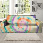 Multicolor Hippie Tie Dye Pattern Print Sofa Cover