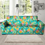 Hawaiian Yellow Pineapple Pattern Print Sofa Cover