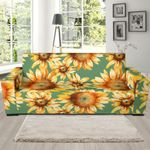 Drawing Sunflower Background Sofa Cover