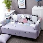 Cute Grey Cats Design Sofa Cover