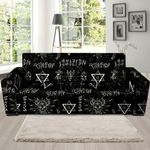 Witch Sign Watercolor Sofa Cover