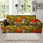 Neon Geisha Japanese Dragon Pattern Print Sofa Cover