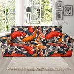Japanese Koi Fish Multi Colors Pattern Sofa Cover