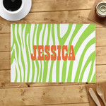 Lime Skin Lines Custom Name Printed Placemat Table Mat