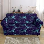 Shark Swimming In The Sea Themed Pattern Print Sofa Cover